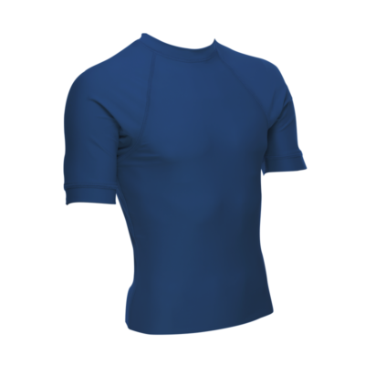 Unisex Short Sleeve Rash Guard, Navy