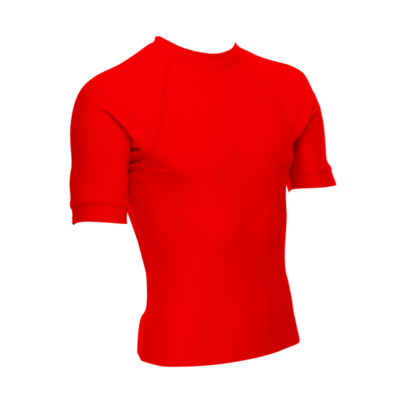 Unisex Short Sleeve Rash Guard, Red