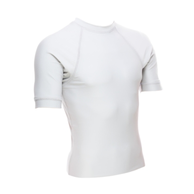 Unisex Short Sleeve Rash Guard, White