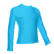 Children's Long Sleeve Rash Guard, Hawaii Blue