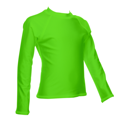 Children's Long Sleeve Rash Guard, Lime