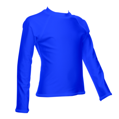 Children's Long Sleeve Rash Guard, Royal
