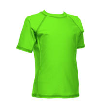Children's Short Sleeve Rash Guard, Lime