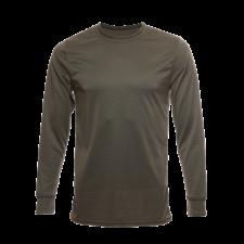 Unisex Long Sleeve Bamboo Crew Dry Shirt, Olive