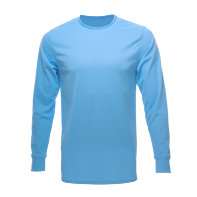 Unisex Long Sleeve Crew Dry Shirt, Carolina Blue