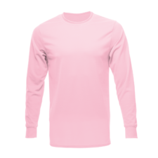 Unisex Long Sleeve Dry Shirt, Light Pink