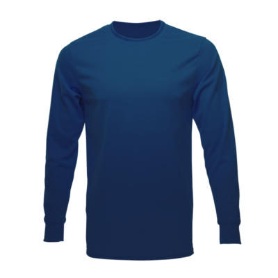 Unisex Long Sleeve Crew Dry Shirt, Navy