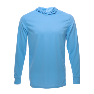 Unisex Long Sleeve Hoodie Dry Shirt, Carolina Blue