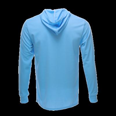 Unisex Long Sleeve Hoodie Dry Shirt Carolina back, Blue