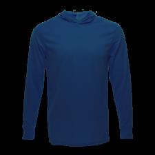 Unisex Long Sleeve Hoodie Dry Shirt, Navy
