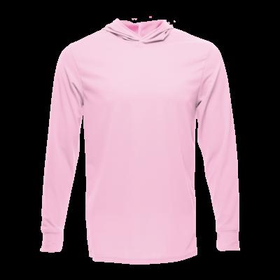 Unisex Long Sleeve Hoodie Dry Shirt, Light Pink