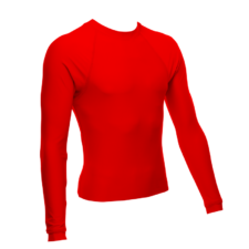Unisex Long Sleeve Rash Guard, Red