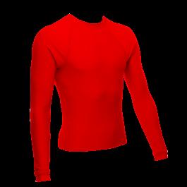 Unisex Long Sleeve Rash Guard, Red