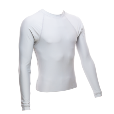 Unisex Long Sleeve Rash Guard, White