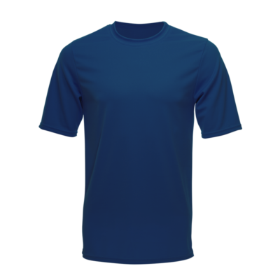 Unisex Short Sleeve Dry Shirt, Navy