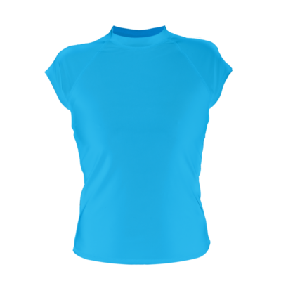 Women's Cap Sleeve Rash Guard, Hawaii Blue