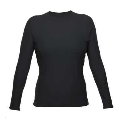 Womens Long sleeve Rash Guard, Black