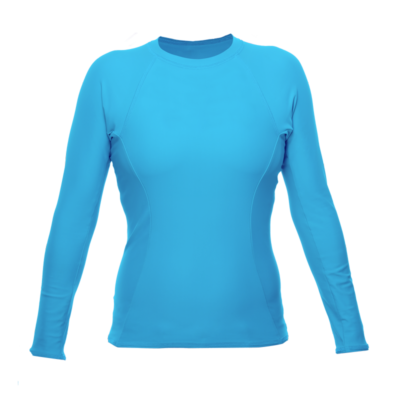 Women's Long Sleeve Rash Guard, Hawaii Blue