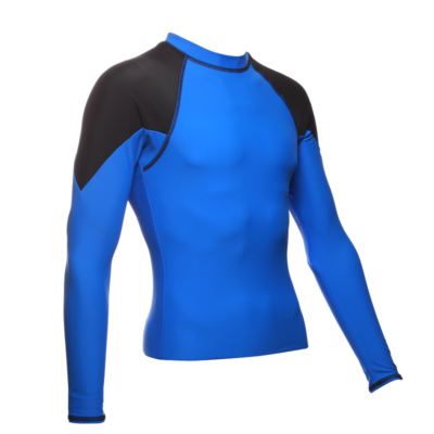 Mens Long Sleeve Diamond, Royal/Black
