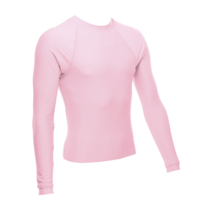 Unisex Long Sleeve Rash Guard, Light Pink